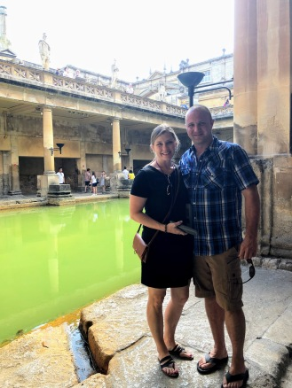 The (very green) baths.